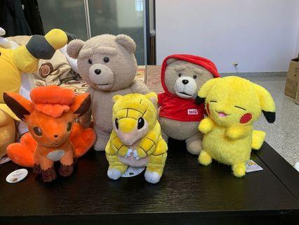 Plush Toy (Pokémon, Ted, Kirby)