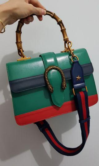 Gucci Bamboo Handmade Original Cow Leather
