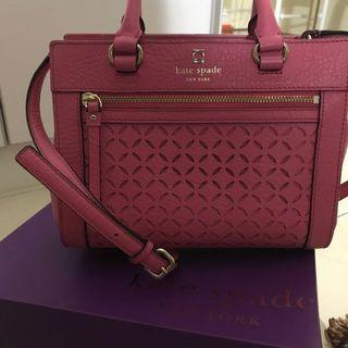 Kate Spade In Pink Leather Bag With Long Strap