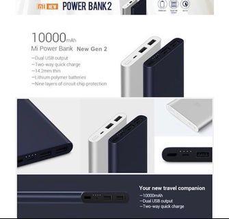 🚚 Xiaomi 10000mah Powerbank Grey