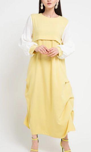 Dress muslim kuning