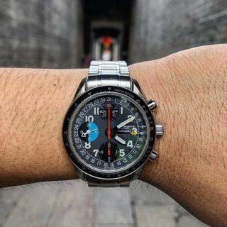 Omega Speedmaster Schumacher MK40 triple calendar
