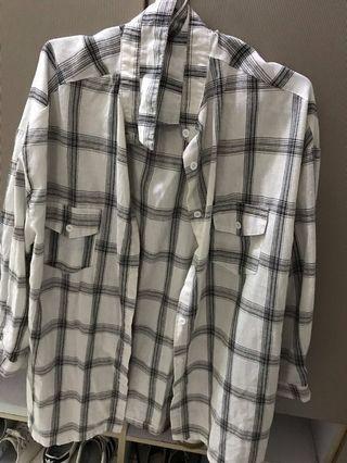 🚚 長版外襯 格子襯衫