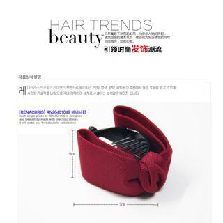 Ribbon Hair Claw, Wine Red