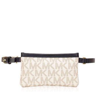 Michael Kors Signature Logo Belt Bag Navy White