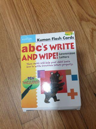 Kumon abc's write and wipe lowercase letters