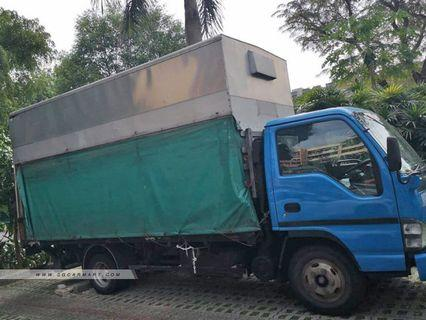 For rent 14ft lorry with canvas