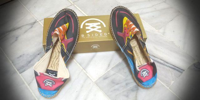 新 法國 BSIDED 帆布草編鞋 38 號