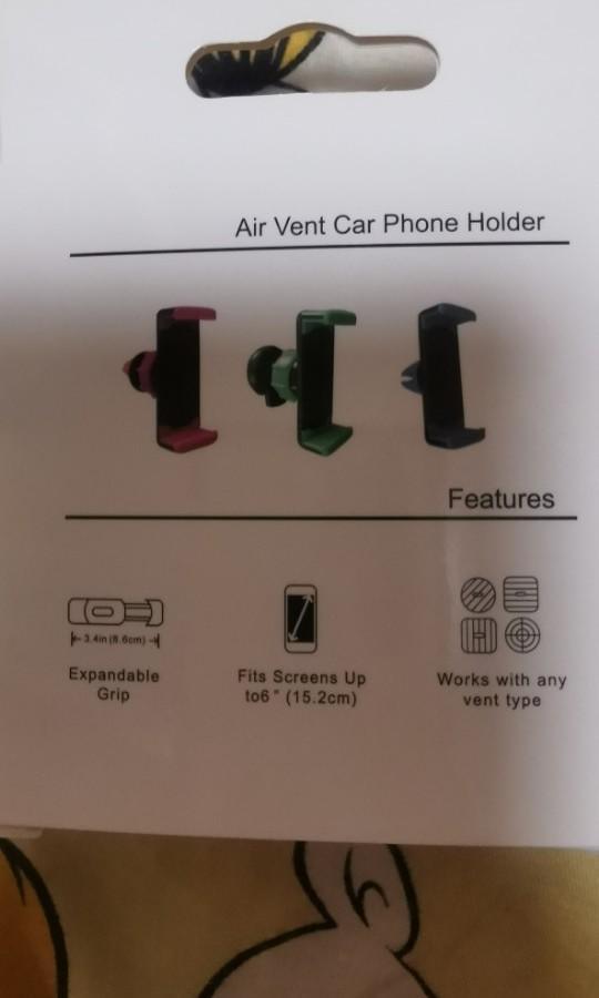 100%全新汽車專用手提電話固定座風夾款...輕鬆方便地固定手機同時又可以節省空間...不怕行車時要執電話產生危險...... 有意可 pm查詢!