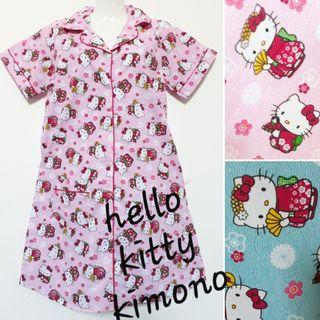 Daster katun dewasa motif mini hello kitty