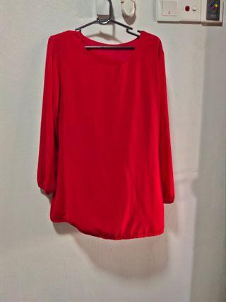 📦 [INC POSTAGE] Red Blouse