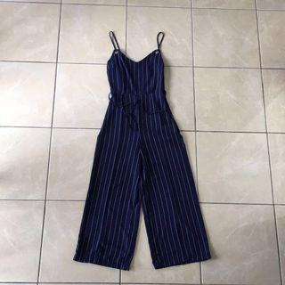 Dark Navy Blue Wide Leg Jumpsuit