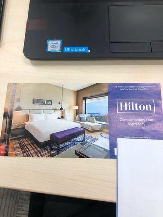 Hilton hotel complementary stay