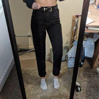 topshop moto black mom jeans
