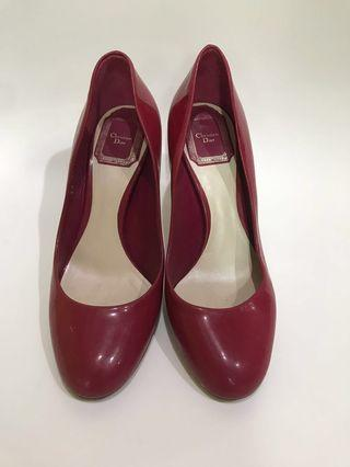 Christian Dior patent leather heels shoes 高跟鞋 高踭鞋 flats 平底鞋
