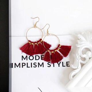 Red Tassle Earring