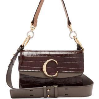 Chloe - The C Patent-Leather Shoulder Bag (Authentic)