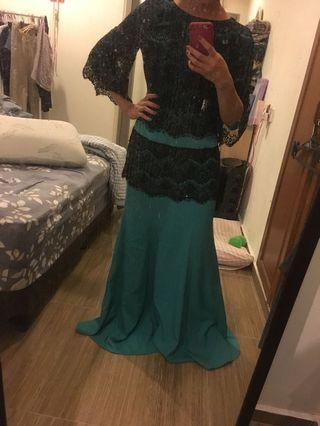 Turquoise Lacey Dinner Dress