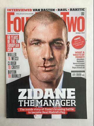 FourFourTwo featuring Zinedine Zidane (October 2015 issue)
