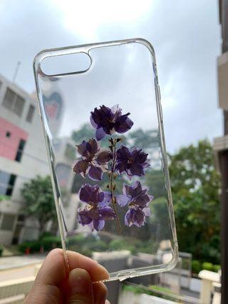 Iphone 8 plus floral clear phone case