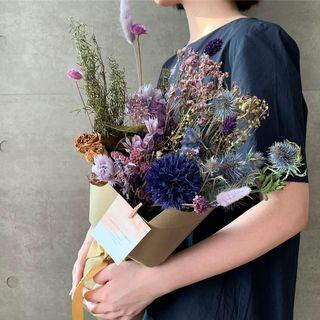 🚚 Dried and Preserved Flower Bouquet Blue