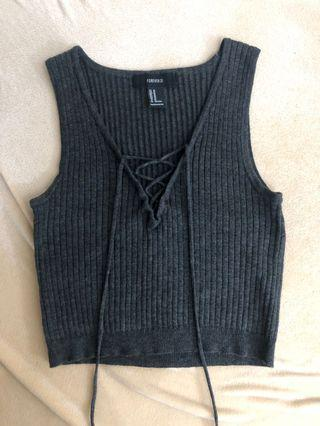 Forever 21 - Ribbed Crop Top Sz M