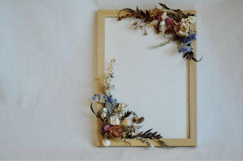 Artistic Dried and Preserved Flowers A4 Photo Frame