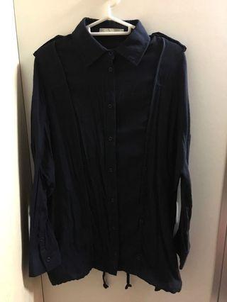 a.y.k Navy Casual Shirt/Jacket