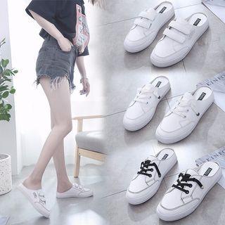 2019懶人新時尚 🔥包頭小白鞋🔥