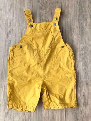 Petit Bateau小帆船 黃色吊帶褲