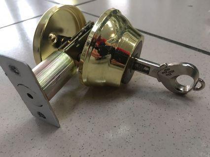 🚚 輔助鎖 大門鎖 心動鑰匙 愛心鑰匙 附鑰匙*1 附螺絲包