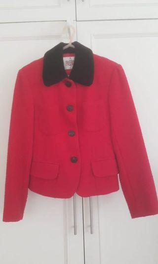 Passion red woollen jacket