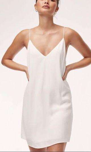 Aritzia Vivienne Dress in white