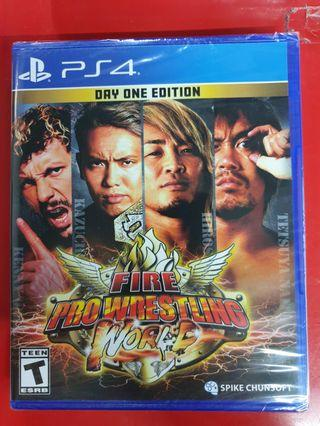 Brand New PS4 Fire Pro Wrestling World