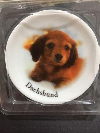 迷你陶瓷盤 臘腸狗 名犬紀念盤 扭蛋 盒玩 迷你馬克杯 臘腸犬 盤子 食玩