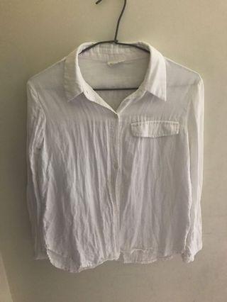 🚚 棉質白色襯衫