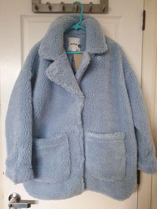Baby Blue Teddy Coat