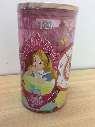 全新 Disney Alice in Wonderland 玻璃瓶 士多啤梨 小蛋卷 Egg Rolls Glass Jar