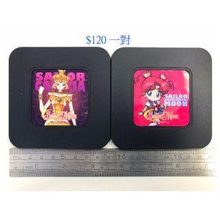 全新 美版 SAILOR MOON 美少女戰士 杯墊 (加拉西亞+小小)