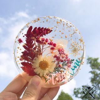 Handmade Resin Floral Coasters