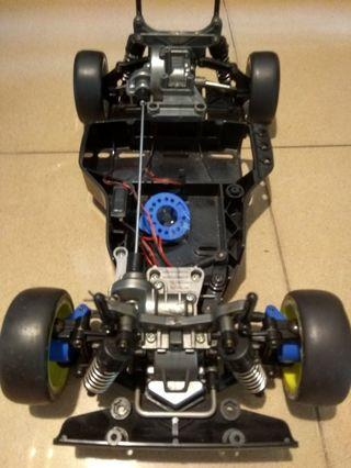 Tamiya TA02 SW. Rolling chassis.
