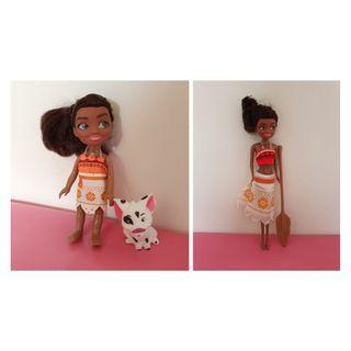 4 items Moana toddler doll Moana grown up doll oar 6.5cm Pua the pig