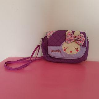 23x16cm PU leather bunny bag, adjustable shoulder strap