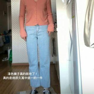 nitenite 正韓 淺色直筒牛仔褲 92pleats nuhi