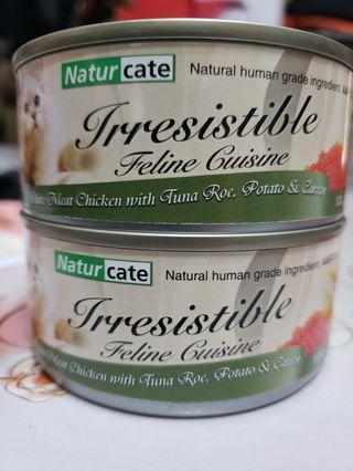 Naturcate 雞胸肉+吞拿魚籽+薯仔+紅蘿蔔貓罐頭 155g Canned Cat Food