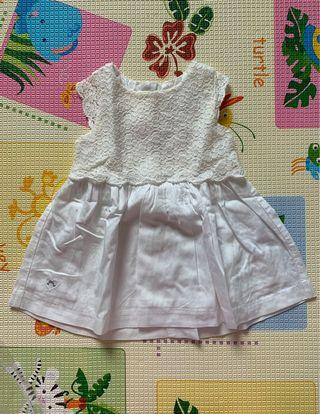 🚚 Chateau de sable white baby dress (6 months)
