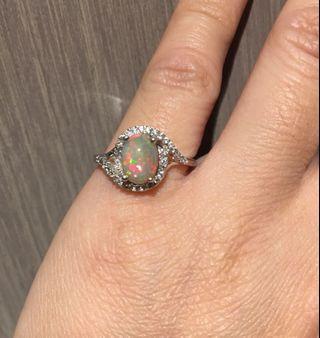 天然澳寶石戒指 opal
