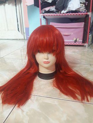RED WIG BUST LENGTH