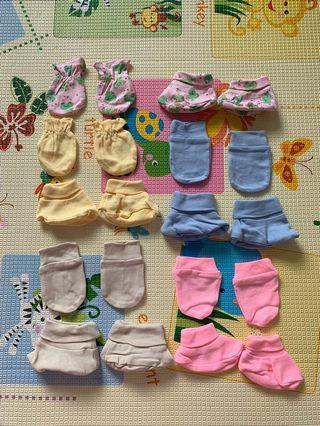 🚚 Baby Mittens and Booties (5 sets)