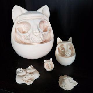 達摩動物骨款一套 貓、犬、鼠 ( 購自台灣 )
